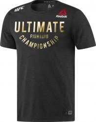 Футболка мужская UFC FK ULTIMATE JER BLACK|UFCG Reebok DM5167