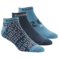 Короткие носки RUN CLUB MENS 3P SO BLUHIL|BLU Reebok DU2831