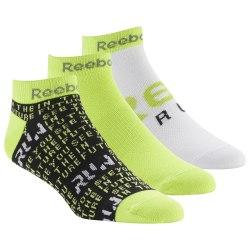Короткие носки RUN CLUB MENS 3P SO BLACK|NEOL Reebok DU2834
