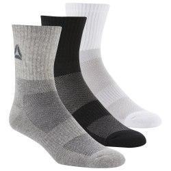 Средние носки ACT FON MID CREW SO WHITE BLAC Reebok DU3016