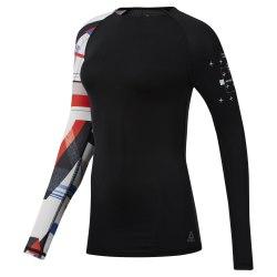 Компресионная футболка женская OS COMP LS BLACK Reebok DU4108