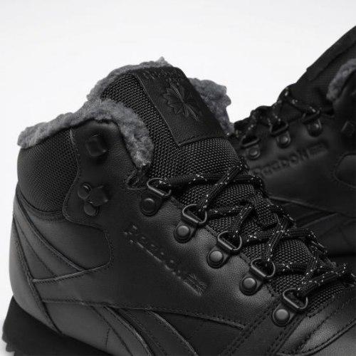 Кроссовки мужские CL LTHR MID RIPPLE BLACK|BLAC Reebok Classic FU9129 (последний размер)