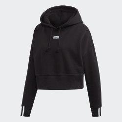 CROP HOOD BLACK Adidas EJ8537