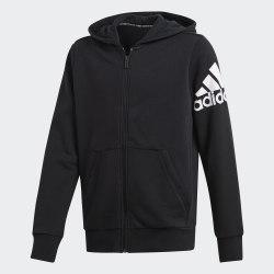 Детское худи YB MH BOS FZ BLACK|WHIT Adidas DV0805