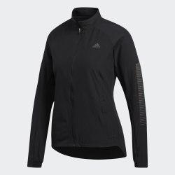 Женская куртка для бега RUNR JACKET W BLACK Adidas DZ1571
