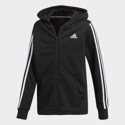 Детская толстовка YB MH 3S FZ BLACK|WHIT Adidas DV0819