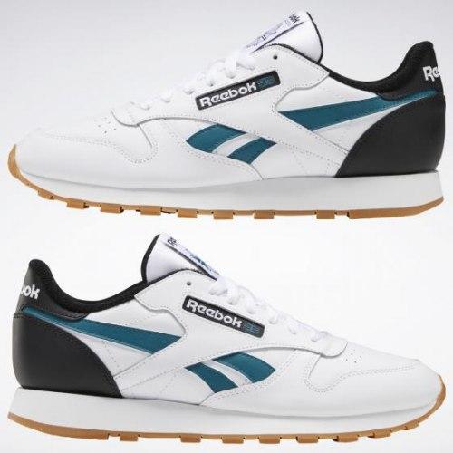 Мужские кроссовки CL LEATHER MU WHITE|BLAC Reebok Classic EF7832