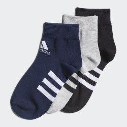 Комплект носков детских (3 пары) KIDS ANKLE 3P MGREYH|BLA Adidas FM2336