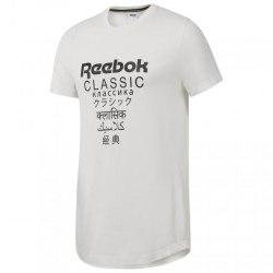 Мужская футболка GP UNISEX LONGER T WHITE Reebok DJ1893