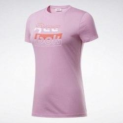 Женская футболка TE Graphic Tee Reeb JASPNK Reebok FK6740