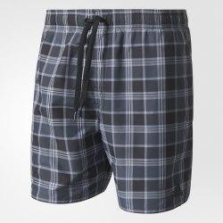 Мужские плавательные шорты CHECK SHORT SL BLACK|DKGR Adidas AJ5559