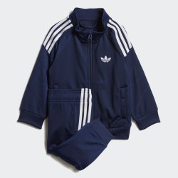 Детский спортивный костюм FLAMESTRK TS DKBLUE|WHI Adidas DV2834