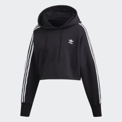 Женское укороченное худи CROPPED HOOD BLACK Adidas ED7554