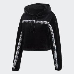 Женская укороченная толстовка CROPPED HOOD BLACK Adidas GI1117