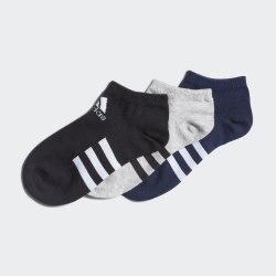 Комплект детских носков (3 пары) KIDS LOW CUT 3P MGREYH|BLA Adidas FM2337