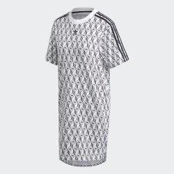 Женское платье TEE DRESS WHITE BLAC Adidas FM1069