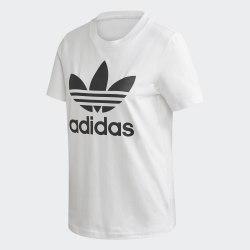 Женская футболка TREFOIL TEE WHITE BLAC Adidas FM3306