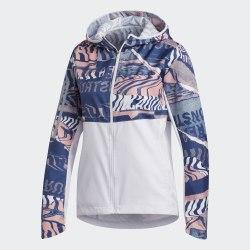 Женская ветровка для бега OWN THE RUN JKT DSHGRY|GLO Adidas FL7259