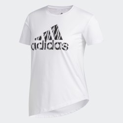 Женская футболка IKAT BOS TEE WHITE BLAC Adidas FL8508