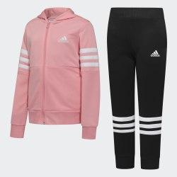 Детский спортивный костюм YG HOOD PES TS GLOPNK|WHI Adidas FM6419