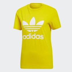 Женская футболка TREFOIL TEE YELLOW Adidas ED7495 (последний размер)