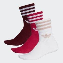 Комплект носков (3 пары) MID CUT CRW SCK MAROON|ENE Adidas ED9396