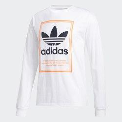 Мужской реглан TONGUE LABEL LS WHITE Adidas FM1568