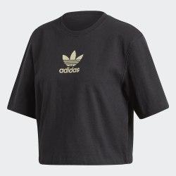 Женская укороченная футболка LG TEE BLACK Adidas FM2630