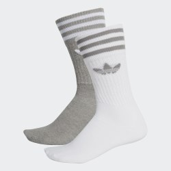 Комплект носков (2 пары) SOLID CREW 2PP MGREYH|WHI Adidas DW3934