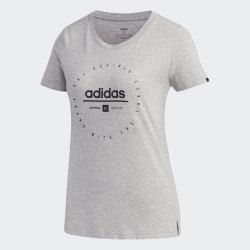 Женская футболка W ADI CLOCK T MGREYH BLA Adidas FM6151