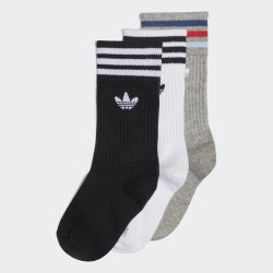 Детские носки (3 пары) CREW SOCK 3P WHITE|BLAC Adidas FL9639