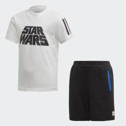 Детский спортивный костюм LB DY SW SUM WHITE|BLAC Adidas FM2869