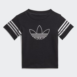 Детская футболка OUTLINE TEE BLACK|WHIT Adidas FM4444