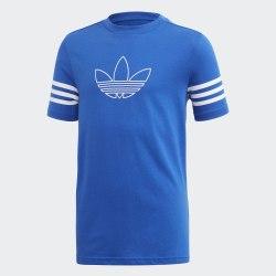 Детская футболка OUTLINE TEE ROYBLU|WHI Adidas FM4457