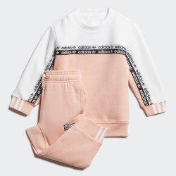 Детский спортивный костюм CREW SET GLOPNK|WHI Adidas FM5496