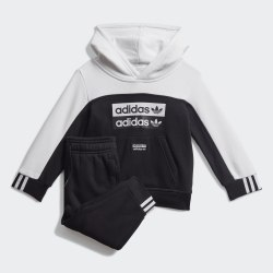 Детский спортивный костюм HOODIE SET BLACK|WHIT Adidas FM5497 (последний размер)
