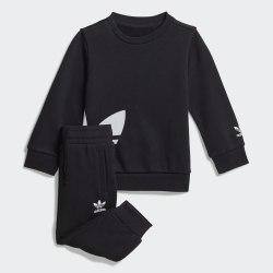Детский спортивный костюм BIG TREFOILCREW BLACK|WHIT Adidas FM5601