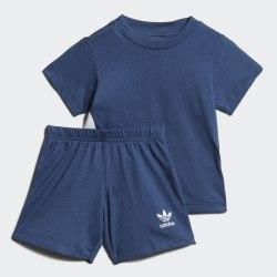 Детский спортивный костюм BIG TREFOIL STS NMARIN|WHI Adidas FM5605