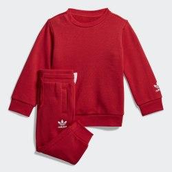 Детский спортивный костюм BIG TREFOILCREW LUSRED|WHI Adidas FM5609