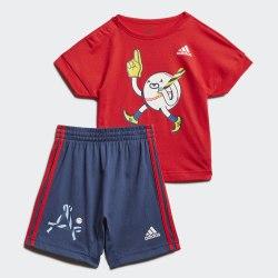 Детский спортивный костюм I CHARACT SET B VIVRED|WHI Adidas FM6372