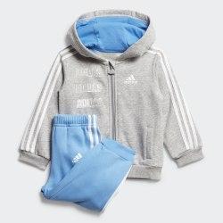 Детский спортивный костюм I LOG FZHD J FL MGREYH|LUC Adidas FM6388