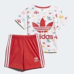 Детский спортивный костюм SHORT SET WHITE|MULT Adidas FM6727