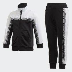 Детский спортивный костюм TRACKSUIT BLACK|WHIT Adidas FN0938