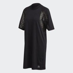 Платье LACE TEE DRESS BLACK Adidas FM1742