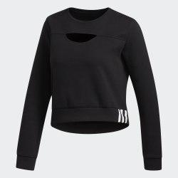 Женский укороченный реглан 3S PERF SWTS BLACK WHIT Adidas FL2059
