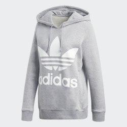 Женское худи TREFOIL HOODIE MGREYH Adidas CY6665