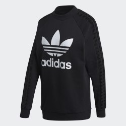 Женский удлиненный свитшот LACE SWEATSHIRT BLACK Adidas FM1752