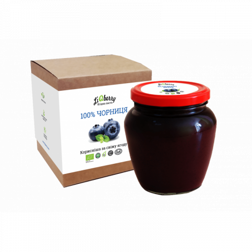Чорнична паста LiQberry (банка 550г)