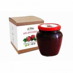 Бруснична паста LiQberry (банка 550г)