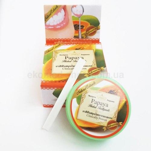 Тайська зубна паста з екстрактом папайї Rochjana 30 г